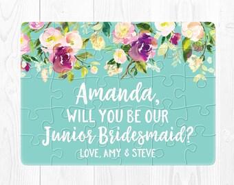 Junior Bridesmaid Proposal Junior Bridesmaid Puzzle Will You Be Our Junior Bridesmaid Will You Be My Junior Bridesmaid Gift Proposal Aqua