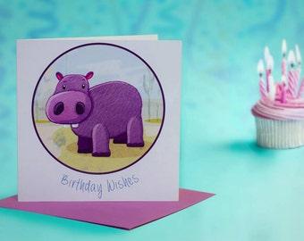 Hippo Birthday - Greeting Card