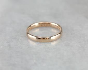 Sleek Rose Gold Wedding Band Ring YJ3MRY