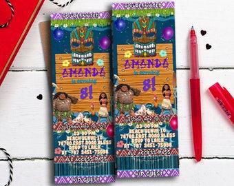 Moana Invitations, Moana Ticket Invitations, Moana Birthday Invitation, Moana Party Invitation, Moana Party Invite, Moana Invite, Moana1