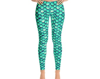 Mermaid Fish Scale Leggings by Dixie Cloth
