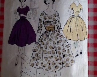 """1960s Dress - 34"""" Bust - Blackmore 9128 - Vintage Retro Sewing Pattern"""