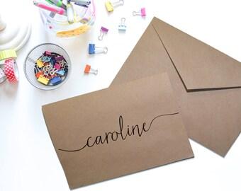 Personalized Stationery - Set of 10 - Custom, Your Name Stationery, Notecards, Personalize, Swash Font, Stationary, Stationery Set