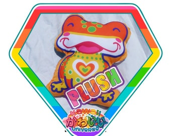 Kawaii Cute Happy Froggy Doodle Plush