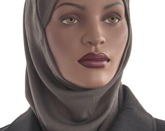 Hijab Amira Hijabi Green Al Amira Hood Hijab Underscarf Ribbed Cotton Knit Handmade