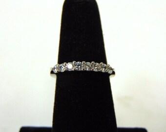 Womens Sterling Silver .925 Ring w/ Diamond Cut CZ Stone 2.3g #E2629