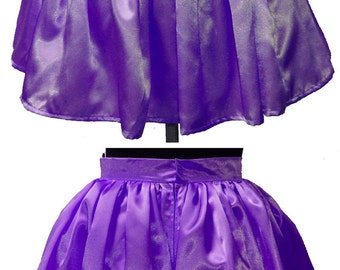Satin Miniskirt Mini Skirt Custom Made Your Choice of Color and Size