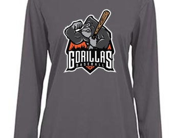 Badger Ladies B-Core Long Sleeve Tee - Gorilla Baseball
