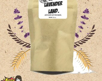 Refill-Natural 100% Lavender Land face mask and scrub 2 in 1 in zip bag 120g.