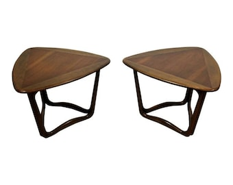 Pair of Mid-Century Danish Modern Lane Perception Guitar Pick End Tables