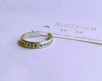 Custom engraving aluminum ring (Unisex)