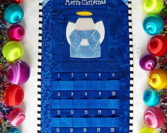 Angel Advent Calendar | Christmas Angel Countdown Calendar | Angel Holiday Calendar | Quilted Angel Calendar | Quilted Countdown Calendar