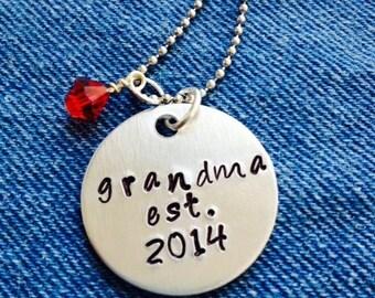 Mom or Grandma Necklace