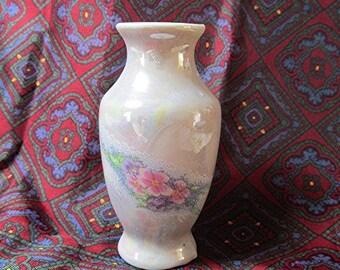 Miniature vase vintage vase little vase ceramic vase porcelain vase flowers white ceramic cute vintage 80s.