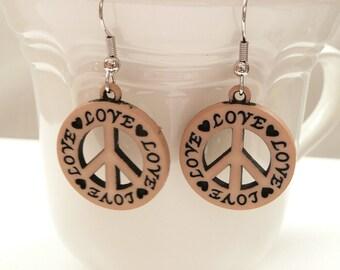nd-Love and Peace Dangle Earrings