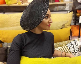 Flat hat black