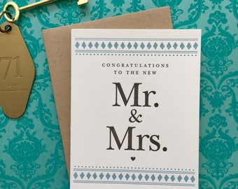 Congrats to the Mr. & Mrs. Letterpress Card