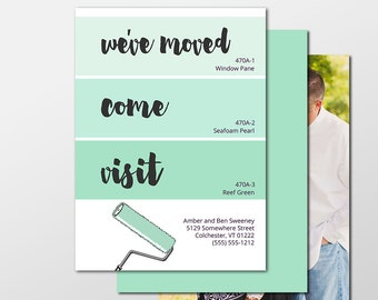 Moving Announcement, We've Moved, Move Announcements, New Address Announcement Cards, New Home Printable Cards, Change of Address