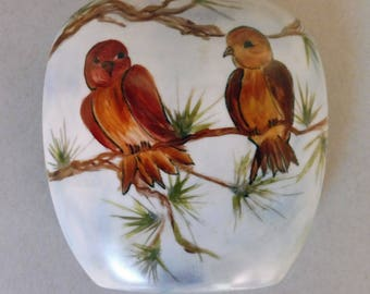 Love Birds and Pine Cone Vase