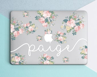 Personalized Macbook case Name Macbook air case Macbook air 13 case Floral Macbook pro case Clear Macbook pro 13 case Macbook pro 15 inch
