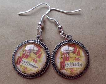 Gryffindor House Crest Earrings