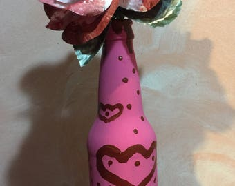 fresa y chocolate (strawberry & chocolate) - painted bottle