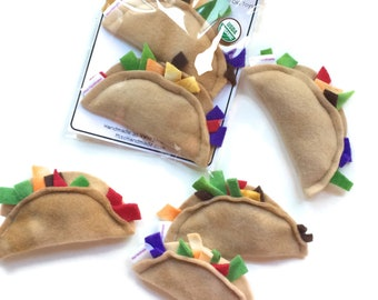 Cat Toys | Catnip Tacos | Organic Catnip Toys | Tacos | Vegan Cat Toys | Handmade Cat Gift | Gift for Cat | Unique Cat Toys