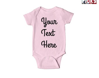 Custom Infant Onesie, baby boy's and girl's personalized, Your Text,Your Design, 100 % cotton, high quality,great for a gift, baby fashion