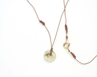 ANCIENT ROMAN GLASS Necklace / Antiquity / Garnet / Gemstone Necklace / Dainty Necklace / Layering Necklace / Ariadne Necklace