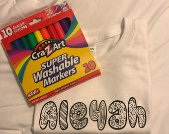 Color me tshirt (markers included)