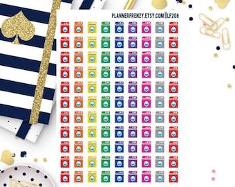 99 Washing Machine/ Laundry Planner Stickers! LF208