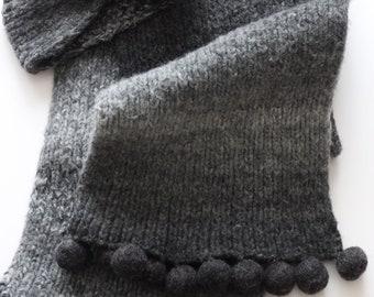 Hand-knitted Scarf ULTRA GREY + Free Headband By VidaFelt - Free Shipping!