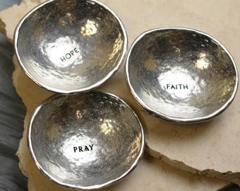 Pewter Bowl with Inscription