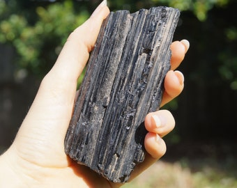 Black Tourmaline (Schorl) || 380gm || 110mm x 50mm x 45mm ||