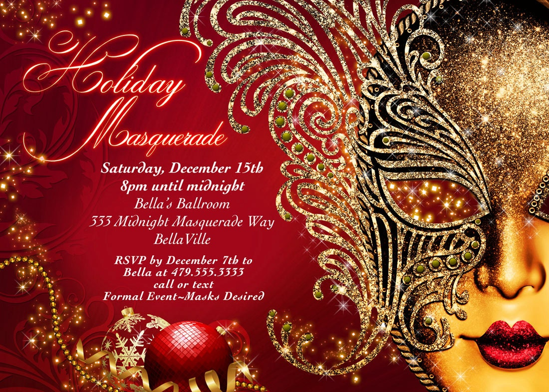 Awesome Christmas Masquerade Party Ideas Part - 1: ?zoom