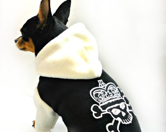 DOG HOODIE SKULL-dog hoodie-dog sweater-dog clothing-dog clothes-small dog outfit-pet baize-pet hoodie-pet clothing-pet clothes-cat clothes