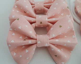 Light Pink Fabric Hair Bow
