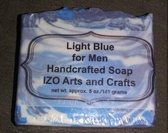 Light Blue for Men Cold Process Goat Milk Soap