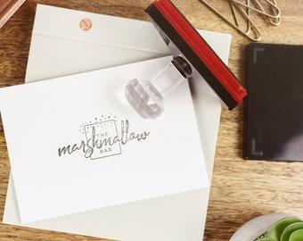 Self inking custom stamp - Personalised business stamp - Self inking business stamp - Custom logo stamp - Logo design stamp -  PIS02