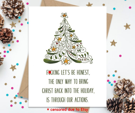 Christmas card funny christmas card funny greeting card like this item m4hsunfo Gallery