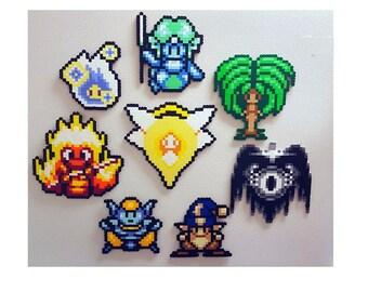Secret of Mana, Perler Beads, perler bead art, pixel art, 8 bit, Magnet, elemental, nintendo, snes, rpg, gamer gifts, perler, video game art