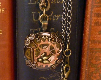 Steampunk Airship traveler blessing necklace - N001