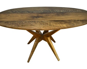 Mid Century Modern Oval Wanut coffee table, modern design