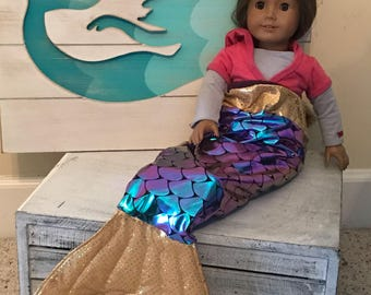 "Doll Mermaid Tails/ Mermaid Tail Costume/ Dollfins/ American Girl Doll, My Life Doll, 18"" doll"