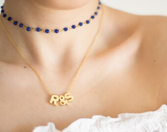Raw Custom Personalized Gift Initial Necklace Clothing Gift Personalized Necklace Letter Necklace Gold Necklace Personalized Gift