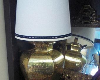 Lamp/ Hammered Brass Petite Desk Lamp