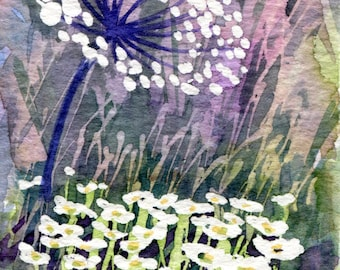Original Watercolour ACEO Painting 'Meadow Series No. 5'