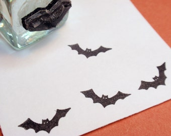 Bat Rubber Stamp   Handmade rubber stamps by BlossomStamps