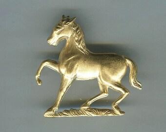 4 Horse Prancing Brass Metal