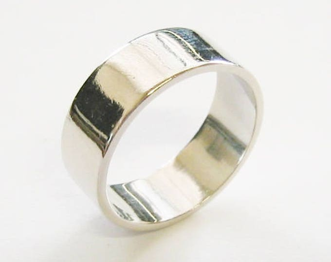 "Vintage... 14K Solid White Gold, ""Super Wide"" Unisex Band or Wedding Ring."